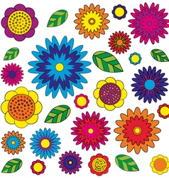 Adult coloring book page irregular floral pattern vector