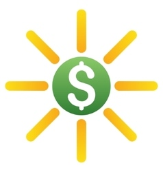 Dollar emission gradient icon vector