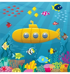 Submarine background vector