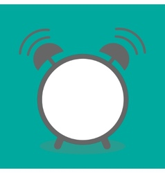 Alarm clock with empty center Template Flat design vector image