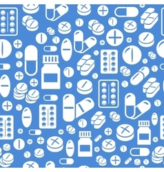 Background made from pills and capsules seamless vector image vector image
