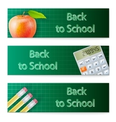 Banner set Back to School vector image vector image