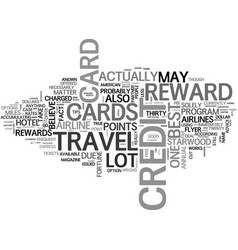 Best travel reward credit card bets text word vector