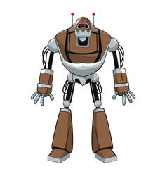 Brown robot electric mechanical vector