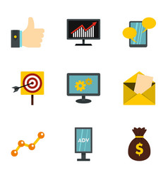 Business office and marketing icons set vector