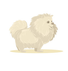 Cartoon dog isolated vector