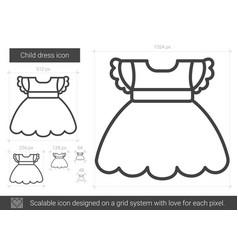 Child dress line icon vector