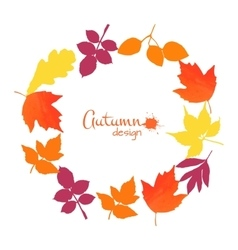 Collection of watercolor leaves vector image vector image