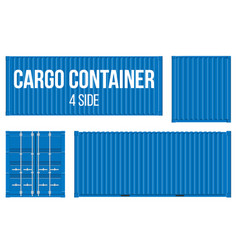 creative of sea freigh cargo vector image