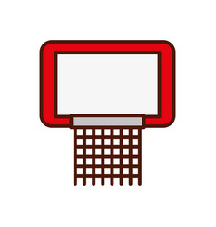 cute red basketball hoop vector image