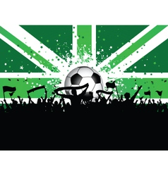 Fans Celebrating Football vector image vector image