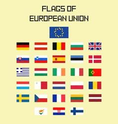 Flags EU vector image