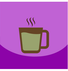 flat icon design collection cup of hot vector image vector image