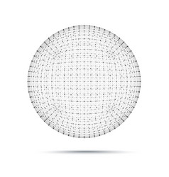 Geometric wire mesh sphere vector
