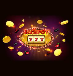 jackpot lucky wins golden slot machine casino vector image