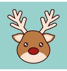 Kawaii reindeer of christmas season design vector