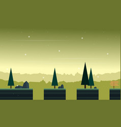 Landscape with spruce for game background vector
