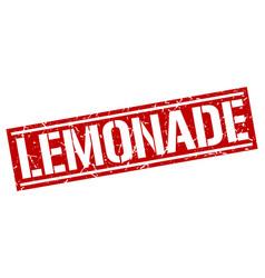 Lemonade square grunge stamp vector
