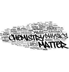 Matter word cloud concept vector