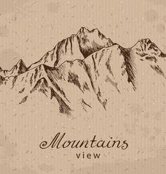 Mountain peak vector
