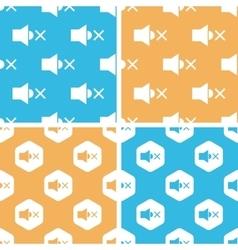 Muted loudspeaker pattern set colored vector image