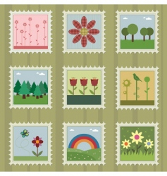 nature stamps vector image