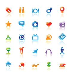 Perfect icons for travel vector image vector image