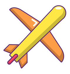 Plane icon cartoon style vector