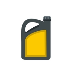 Plastic canister of gasoline icon flat style vector