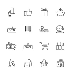 purchase icons vector image