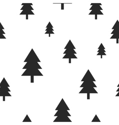 Scandinavian black forest tree on white vector image