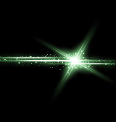 Shining star with a stardust green color vector