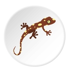 Spotted chameleon icon flat style vector