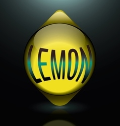 Vertical glass lemon text abstract logo vector
