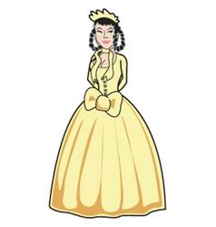 Victorian girl vector image
