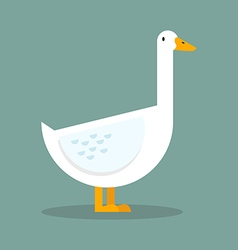 White goose flat style vector