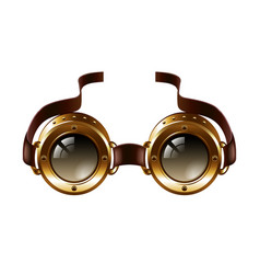 Steampunk goggles isolated on white vector image