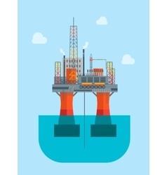 Cartoon oil platform vector