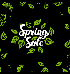 Spring sale postcard vector