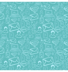 Social media cartoon icons pattern vector image