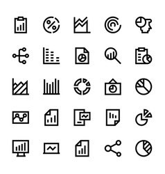 Business charts and diagrams line icons 2 vector