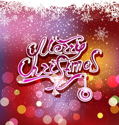 Christmas background with greeting inscription vector