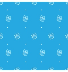 Hand drawn gift box seamless pattern vector