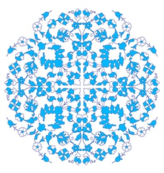 Artistic ottoman blue pattern series twenty nine vector