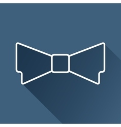 Bow-tie icon eps10 vector