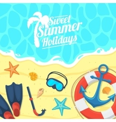 Sea shore and swimming accessories vector