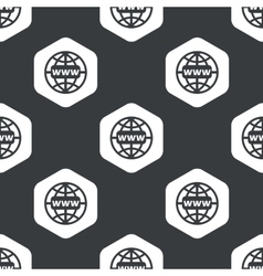 Black hexagon global network pattern vector
