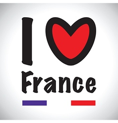i love france vector image