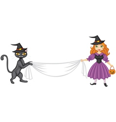 Witch banner vector