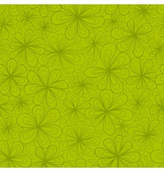 Abstract flowers seamless pattern in green tints vector image vector image